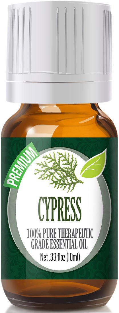 Cypress 100 Percents Pure Best Therapeutic Grade Essential Oil   10ml by Healing Solutions
