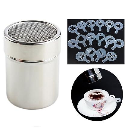Little Poplar Dispensers de la sal del acero inoxidable del tamizador de la harina del café