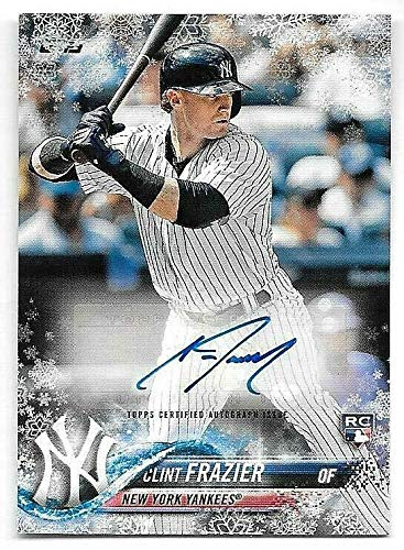 2018 Topps Walmart Holiday Snowflake Metallic Clint Frazier Autograph RC #08/10 ()