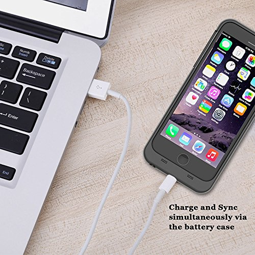 iPhone 8 /iPhone 7 Batterie case 3200mAh Ultra dünnes Akku Case Hülle Handyhülle FugouSell® [Anti-Rutsch] [Stoßfest] Batterie Case Eingebautem Akku für iPhone 8 /iPhone 7 (4.7 Zoll)