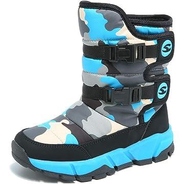 UBFEN Kids Snow Boots Boys Girls Womens Winter Warm Waterproof Outdoor Slip Resistant Cold Weather Shoes (Toddler/Little Kid/Big Kid)