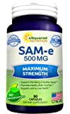 Pure SAM-e 500mg Supplement - 90 Capsules - SAMe (S-Adenosyl Methionine) to Support Mood, Joint Health, and Brain Function - Extra Strength SAM e Pills