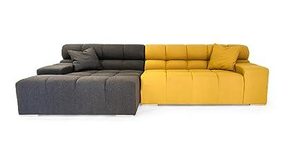Exceptionnel Kardiel Cubix Modern Modular Left Sectional Sofa, Charcoal, Arylide Cashmere