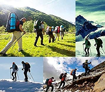 ZTOUR Trekking Poles Walking Sticks Hiking Pole Collapsible Anti Shock Ultralight Adjustable Folding Trails