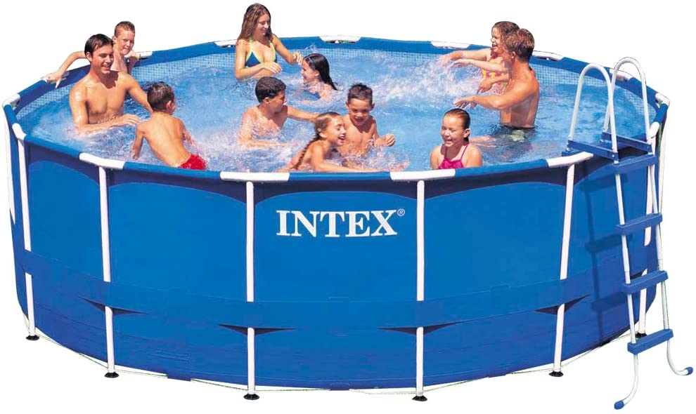 Intex 15ft X 48in Metal Frame Pool Set with Filter Pump, Ladder, Ground Cloth & Pool Cover Amazon's Choice