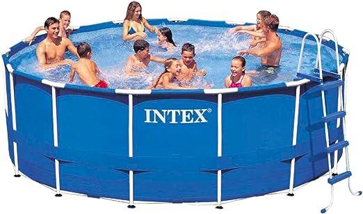 Intex 15 ft x 48 en metal marco piscina conjunto: Amazon.es: Jardín