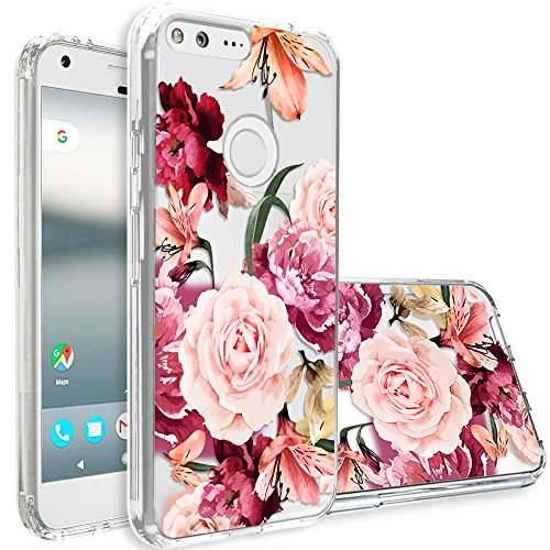 Google Pixel XL Case,Topnow [Anti-Scratch PC + Shockproof Anti-Drop Soft TPU] Advanced Printing Pattern Phone Cases Glossy Drawing Design Cover for Google Pixel XL(Roses Cluster)