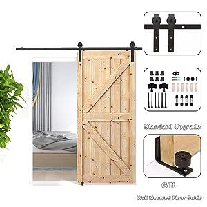 CCJH 6FT 183CM Acero Herraje para Puerta Corredera Kit de Accesorios para Puertas Correderas Juego de Piezas de Carril para Una Puerta, Con Un Regalo Gratis: Amazon.es: Bricolaje y herramientas