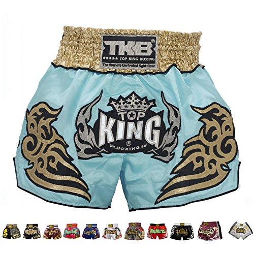 Top King Boxing Muay Thai Shorts (119 - Light Blue,S)
