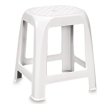 Badhocker kunststoff  Stabiler Hocker aus Kunststoff weiß leicht zu reinigen • Sitzhocker ...