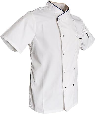 Sharplace Ropa de Chef Unisex Chaqueta de Cocinero Uniforme de Camarero de Hotel Restaurante: Amazon.es: Ropa y accesorios