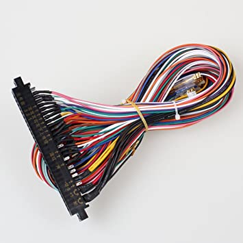 61KCXvTWFbL._SY355_ amazon com eg starts arcade jamma 56 pin interface cabinet wire wiring harness loom at bayanpartner.co