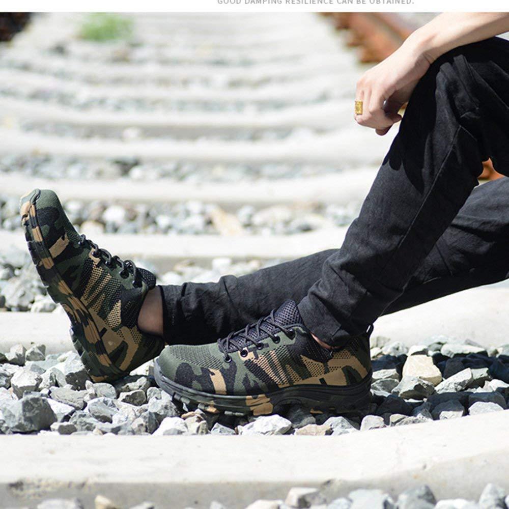 FuweiEncore Männer Und Frauen Verschleißfeste Arbeitsschuhe Bergsteigen Bergsteigen Bergsteigen Casual Sicherheitsschuhe Anti-Smashing Schuhe (Farbe   Grün, Größe   43EU) 567c6c