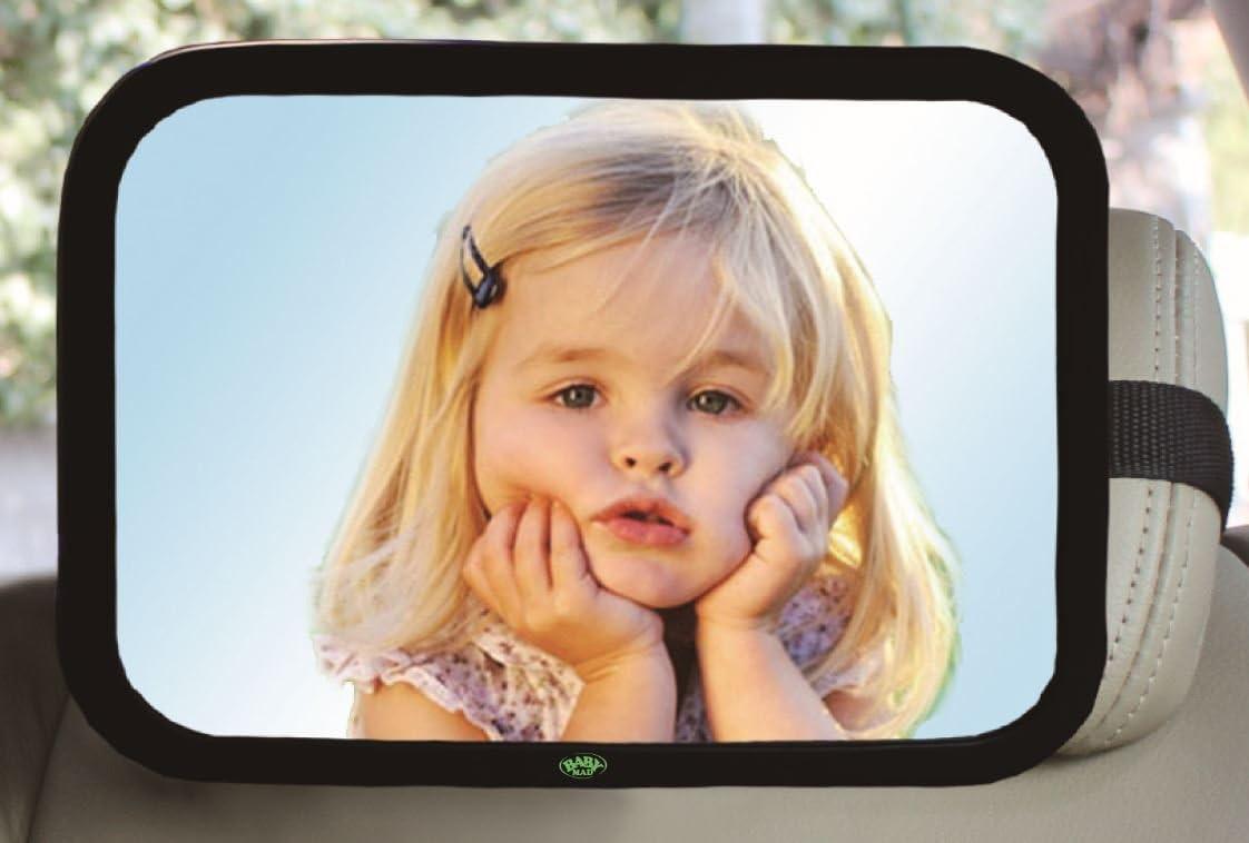 pr/êt /à l/'emploi Enti/èrement r/églable incroyablement facile /à monter 100/% antid/éflagrant ins Miroir de voiture pour b/éb/é Sangles de fixation l/ég/ères grande Forme rectangulaire