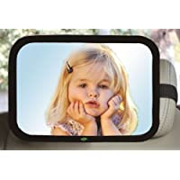 Baby Car Mirror, Large Rectangle Shape, 100% Shatterproof, Ready Assembled, Fully Adjustable, Incredibly Easy to Fit, Anti-Judder Fixing Straps, Quick Install, Premium Quality (Black)