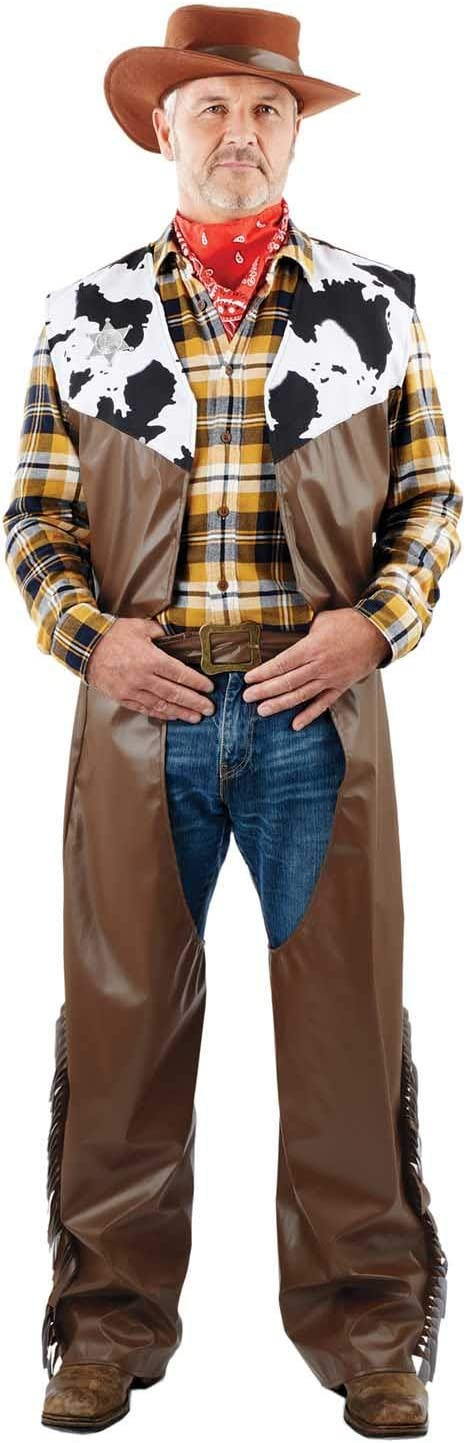 Fun Shack Mens Cowboy Costume Adults Wild West Rodeo Sheriff Western Cow Boy Outfit