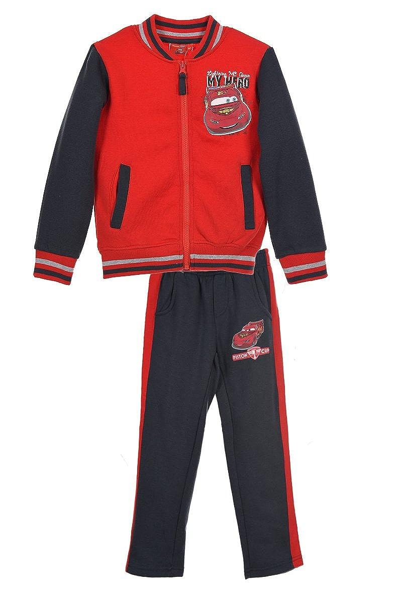 Disney Cars Kinder Trainingsanzug Jogginganzug mit Kapuzenjacke und Jogginghose für Jungen und Mädchen mit Disney Cars Motiven