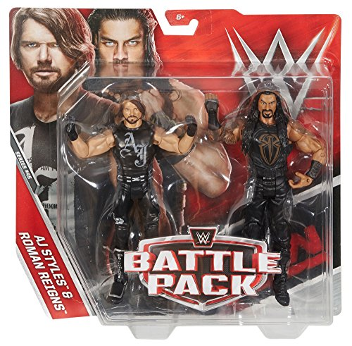 WWE AJ Styles and Roman Reigns Action Series 45 Figure, 2 Pack by WWE