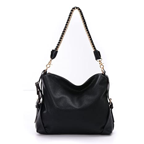 f1ac5da6d9 Image Unavailable. Image not available for. Color  DDDH Fashion Women s PU  Leather 3 Ways Hobo Shoulder Cross-body Tote Top Handle Handbag