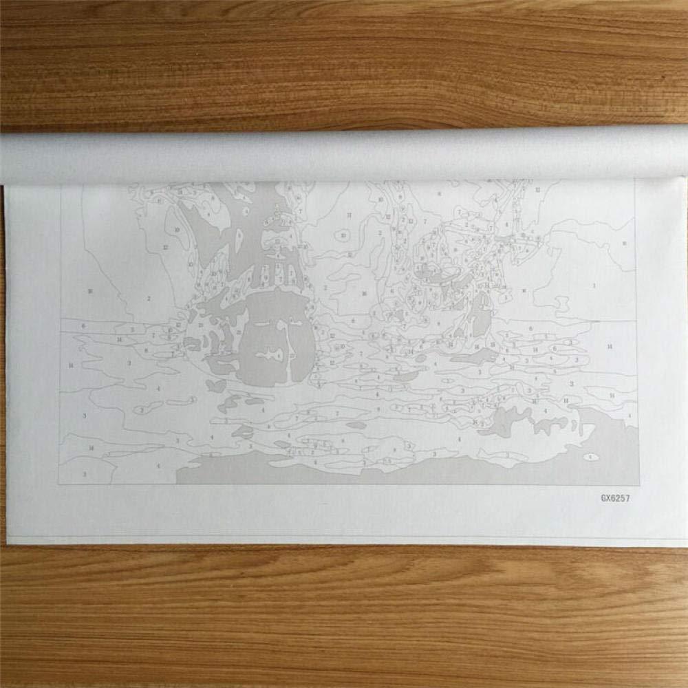 Pintar por n/úmeros Caballo en el bosque abstracto dibujado a mano decoraci/ón del hogar pintura al /óleo Principiante Kit de bricolaje de lona Regalo especial 16x20inch SDHJMT