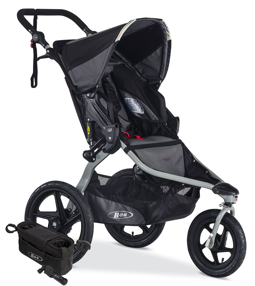 BOB Revolution FLEX Jogging Stroller Bundle, Black