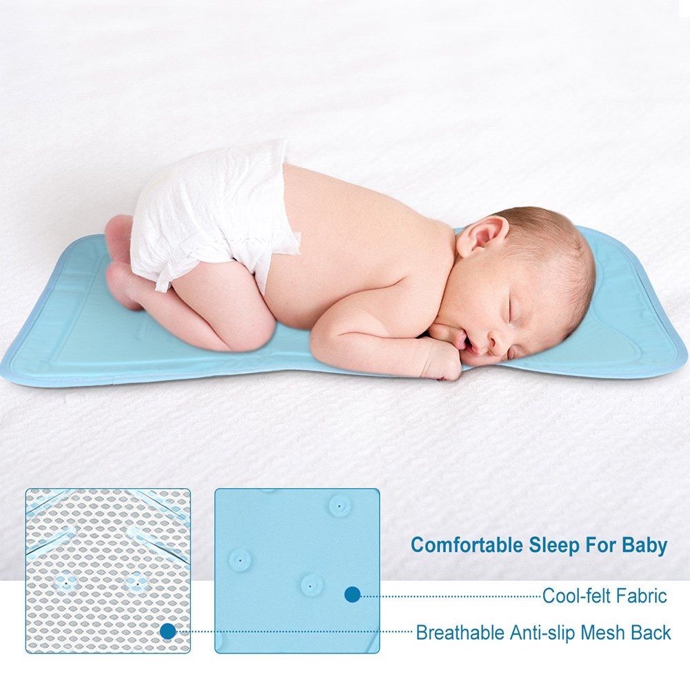 Atoumia Self-cooling Gel Mat, Baby Stroller Cooling Mat, Car Seat Mat, No Need Refrigeration, Non-toxic & Safe for Babies-White
