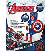 32ct Avengers Captain America Valentine's Day Mailbox Kit with Valentines