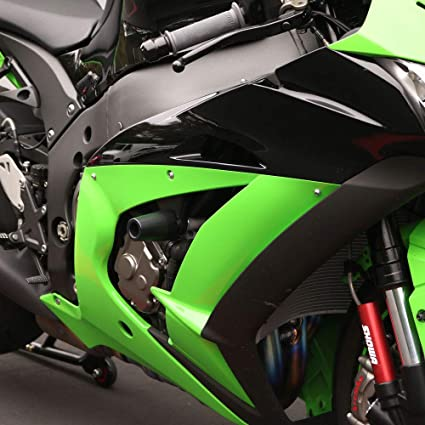 Shogun Kawasaki ZX10 ZX10R ZX10RR 2016 2017 2018 2019 2020 Black Complete No Cut Slider Kit; Includes: No Cut Frame Sliders, Swing Arm Spools and Bar ...