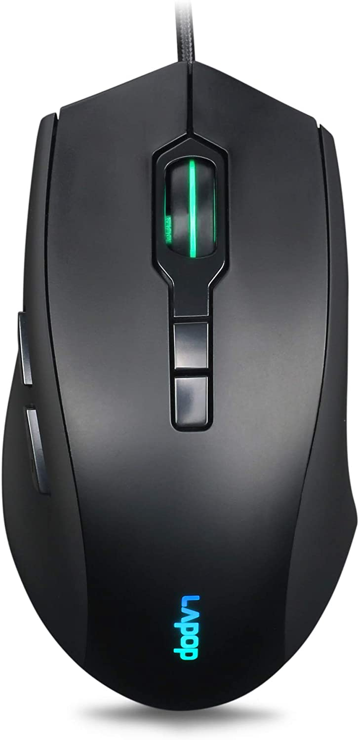 RGB Gaming Mouse 3200 DPI Wired Optical Mice with RGB Backlit and Programmable Buttons for Laptop PC Computer Games & Work (60Ⅱ)