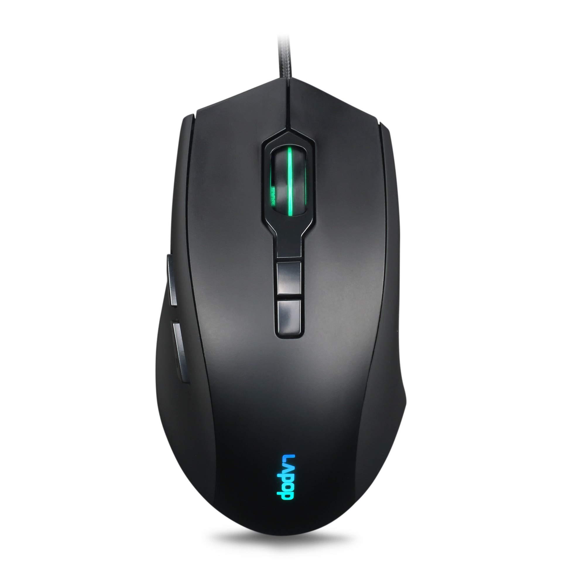 Mouse Gamer : RGB 3200 DPI Con cable Optico con RGB Backlit