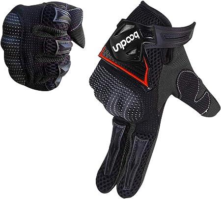 Artop Motorrad Handschuh Herren Touchscreen Motorradhandschuhe Sommer Motorcross Cross Handschuhe Männer Alle Jahreszeiten Schwarz M Auto