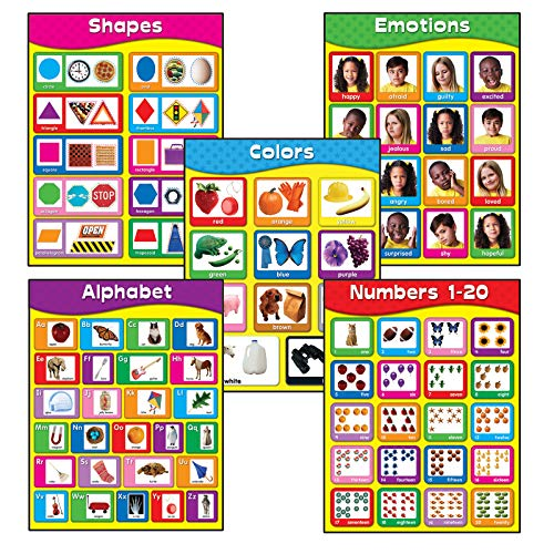 Carson-Dellosa Early Learning Chartlet Set
