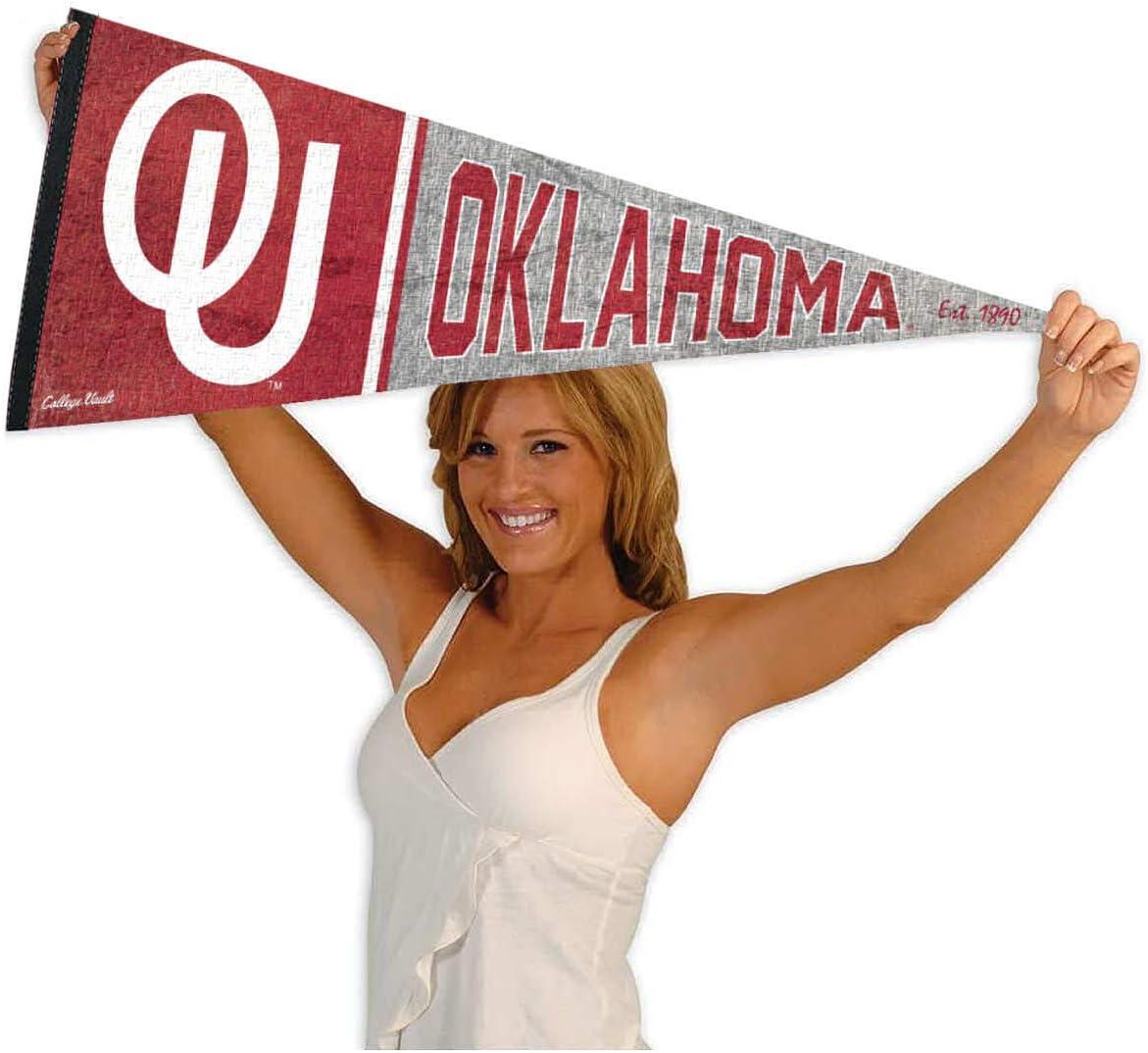Oklahoma Sooners Pennant Throwback Vintage Banner