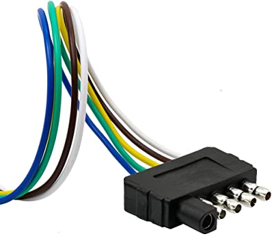 Amazon.com: TIROL 5-Way Flat Trailer Wire Harness Extension Connector Plug  with 36 inch Cable Length End Connector: AutomotiveAmazon.com