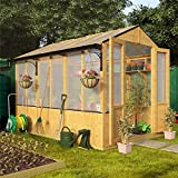 BillyOh 9' x 6' Lincoln Wooden Polycarbonate Greenhouse
