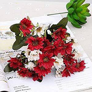 ShineBear 1pcs Artificial Flowers Autumn Velvet Aster Ornaments Simulation Plants DIY Ikebana Garden Wedding Home Decor 2c - (Color: 4) 24