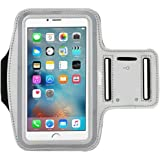 Deego Nancy's shop Easy Fitting Sports Universal Armband With Build In Screen Protect 5.5 Inch Case with Key Holder Slot for Iphone 6 Plus - Grey