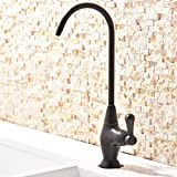 Best Water Purifiers Ufaucet Commercial Stainless Steel Oil Rubbed Bronze Kitchen Bar Sink Drinking Water Purifier Without Sprayer Bar Prep Single Hole Kitchen Faucet,360 Degree Swivel Sink Faucet