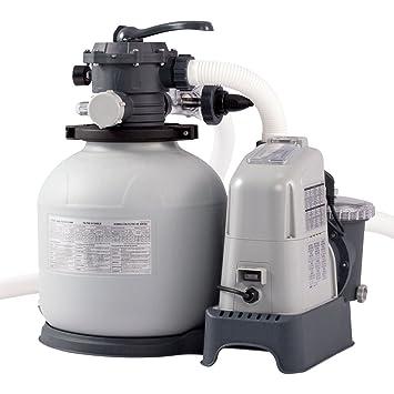 Intex 28676 - Combo depuradora de arena + cloracion salina ECO 7 gramos 32.200 litros: Amazon.es: Hogar