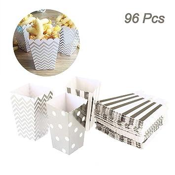 96 piezas Creatiees Mini Palomitas de maiz Cajas, Cartulina Caramelo Contenedores para Cumpleaños, Bridal