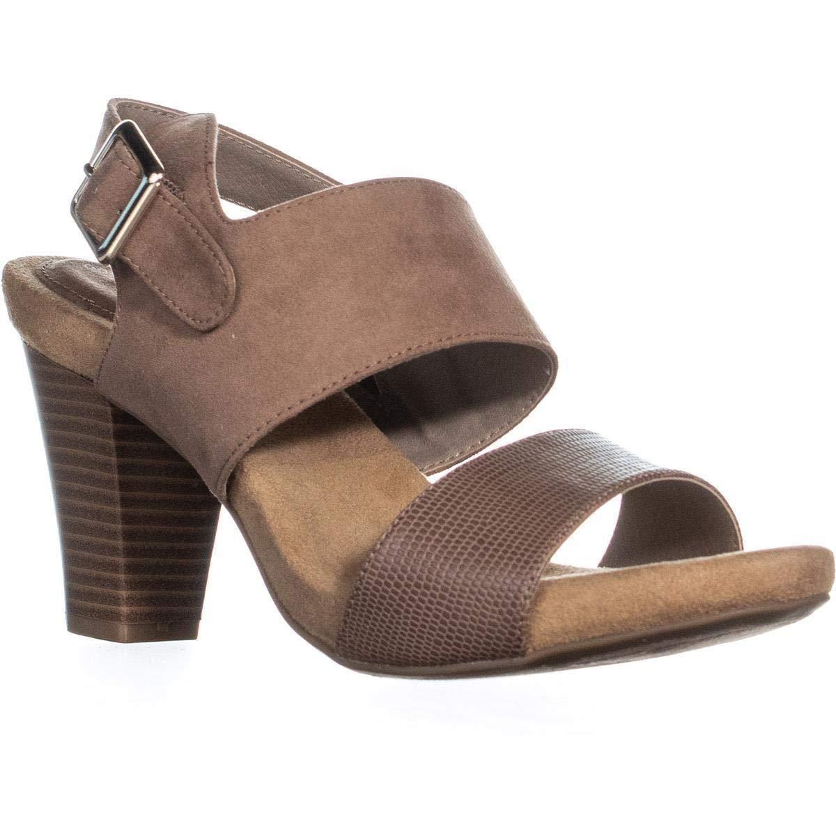 Dark Taupe Giani Bernini GB35 Aikko2 Ankle Strap Buckle Sandals, Dark Taupe