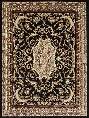 Generations pre8024black_8x11 Traditional Opera Persian Area Rug, 8' x 10', Black