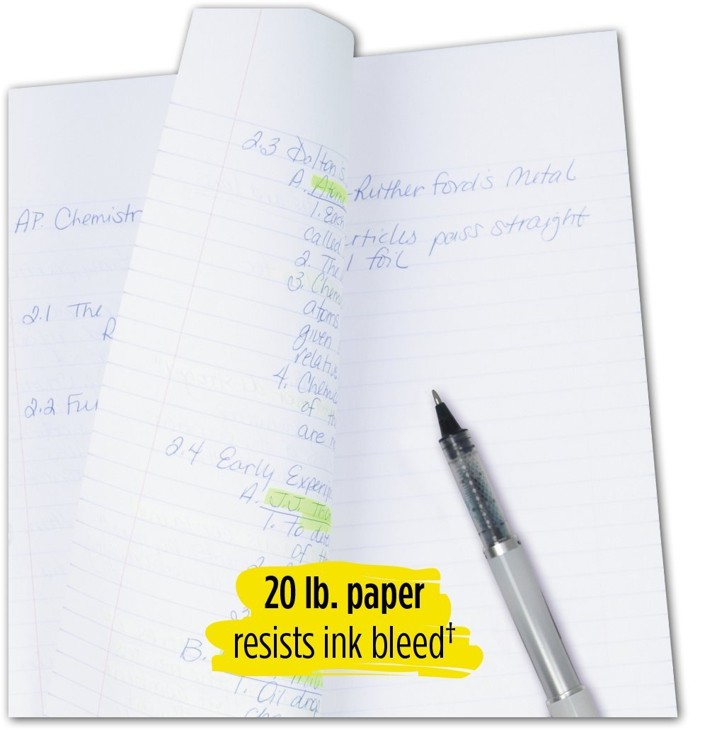 Five Star Loose Leaf Paper, 3 Hole Punched, Reinforced Filler Paper, Wide Ruled, 10-1/2'' x 8'', 100 Sheets/Pack (15000) by Five Star (Image #5)
