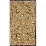 Safavieh Anatolia Collection AN512C Handmade Traditional Oriental Sage and Beige Premium Wool Area Rug (3′ x 5′)