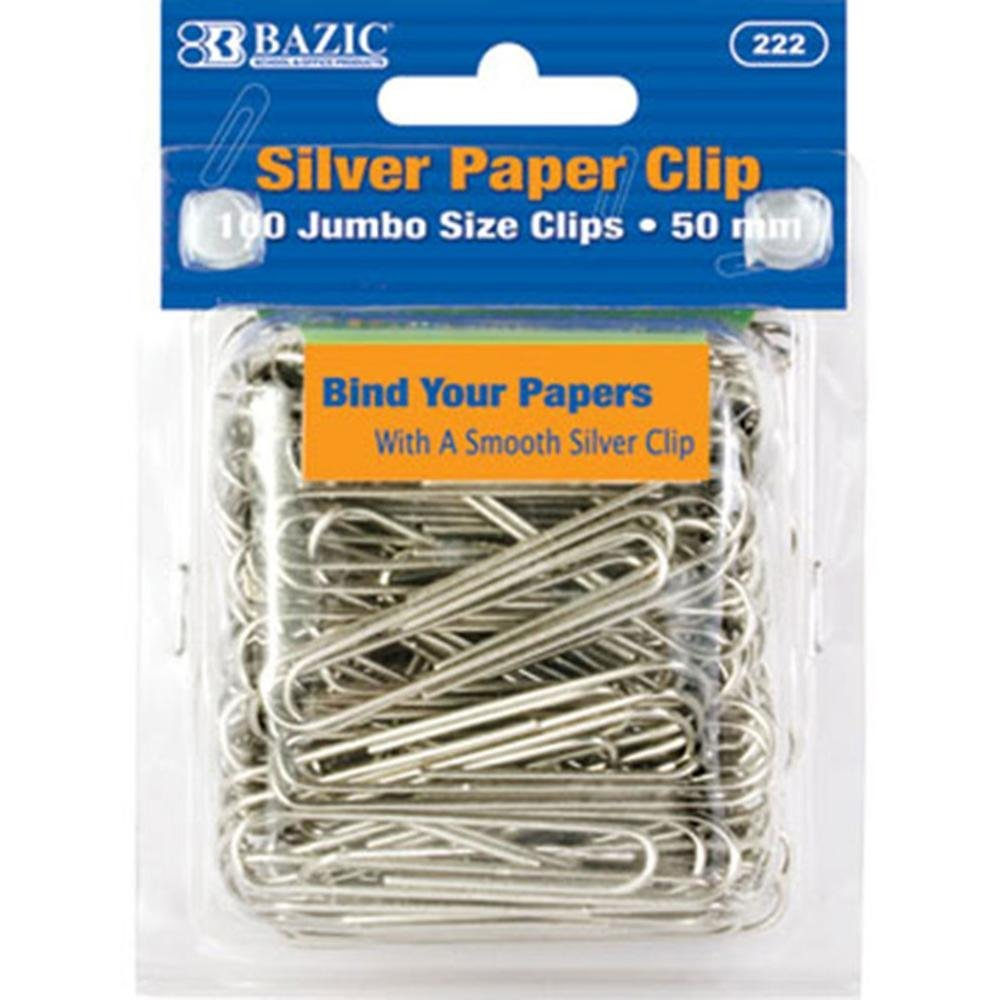 BAZIC Large (50mm) Metal Paper Clip