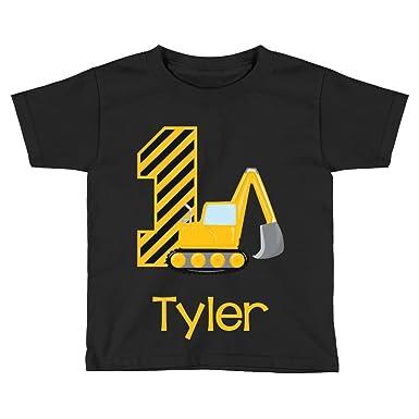 Amazon Baby Boys Construction 1st Birthday Shirt