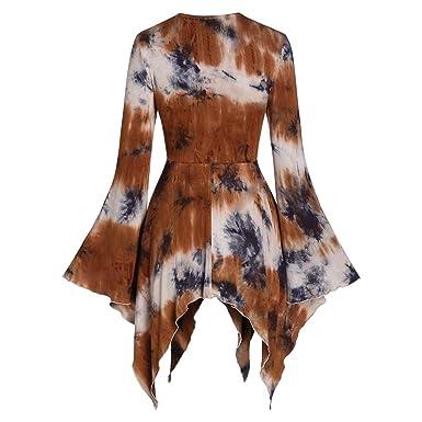 Camisetas góticas de mujer de manga larga, elegante vestido de ...