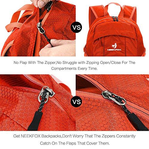 NEEKFOX Lightweight Packable Travel Hiking Backpack Daypack,35L Foldable Camping Backpack,Ultralight Outdoor Sport Backpack (03.Orange) by NEEKFOX (Image #3)
