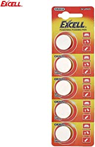 Detectorcatty 5pcs EXCELL 3V Lithium Button Cell CR2032 Replacement Coin Cell for Electronic Scale & Car Key & Remote Control