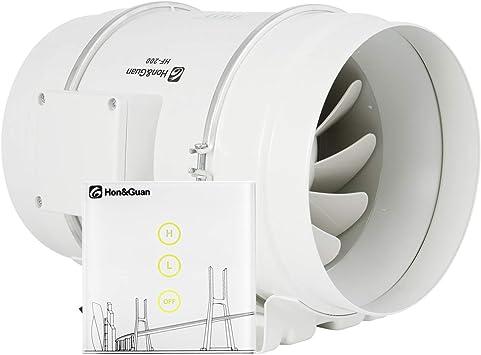 Hon&Guan Extractor de Aire en Línea com Flujo Mixto 200mm ...
